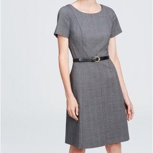 Brand New Ann Taylor Gray Plaid Flare Dress